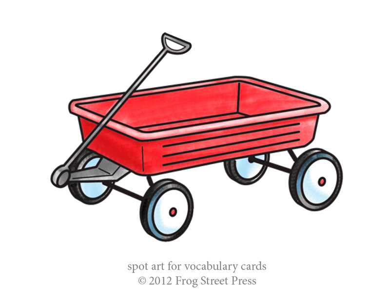 child's red wagon