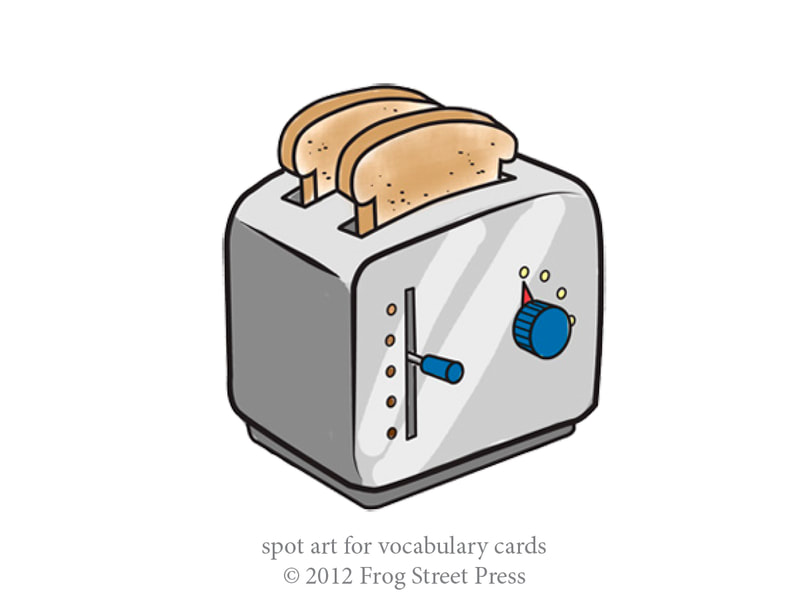 two pieces of toast popping out of a toaster